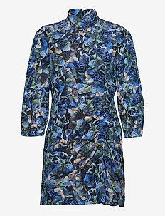 AALIAH - short dresses - blue hydrangea