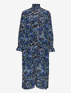 AEVERIE - sukienki do kolan i midi - blue hydrangea