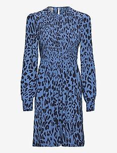 AVALEIGH - midi dresses - provence blue leo