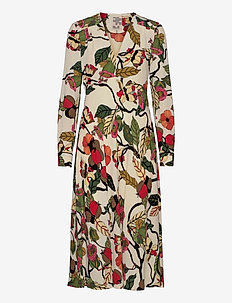 AERICKA - sukienki do kolan i midi - cream floral branch