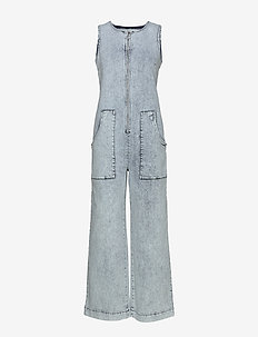 NORMAJEAN - jumpsuits - heavy washed denim