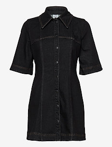 ALLEY - shirt dresses - black denim