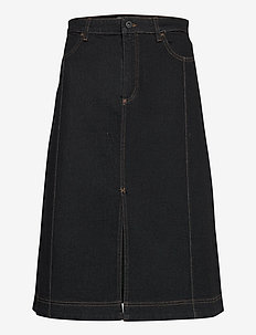 SADIE - denim skirts - black denim
