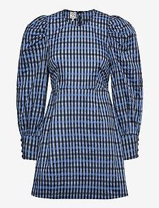AIDINE - korte kjoler - blue gingham