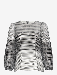 MARCELLO - long sleeved blouses - polkadotgradient