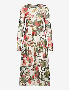 JOCELINA - robes midi - cream floral branch