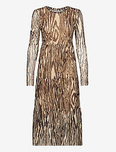 JOCELINA - robes midi - nature wood