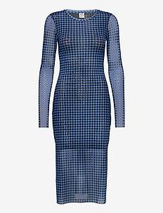 JOLANDA - sukienki do kolan i midi - blue gingham