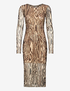 JOLANDA - robes midi - nature wood