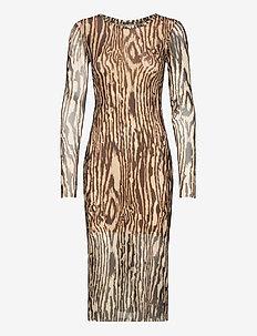 JOLANDA - midi kjoler - nature wood
