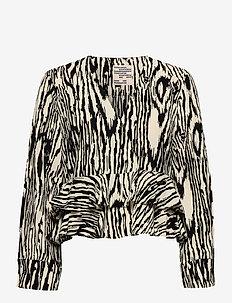 MALOUA - long sleeved blouses - pale yellow wood