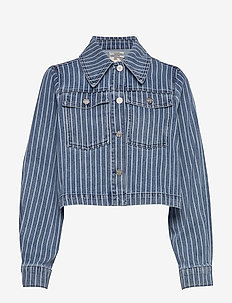 BENNA - vestes en jean - blue stripe denim