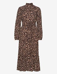 ANTOINETTE - midiklänningar - natural leopard