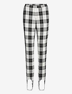 NALEEN - bukser med smalle ben - cream black check