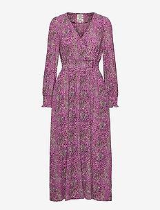 AZIA - wrap dresses - fuchsia mini leo