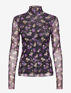 JODI - long-sleeved tops - paris flower purple