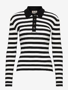 CHARLEE - polohemden - cream black stripe