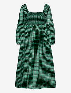 AQUINA - robes de jour - gumdrop green check