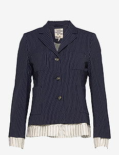 BOLIVIA - skræddersyede blazere - dark blue pinstripe
