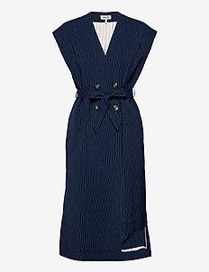 AOLANY - strikveste - dark blue pinstripe