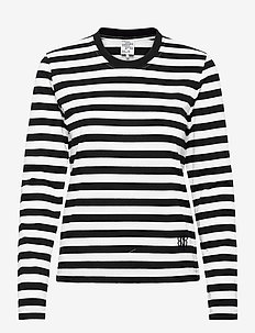 JOEANA - langærmede toppe - black and white stripe