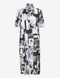 ANGIE - sommerkjoler - black floral collage