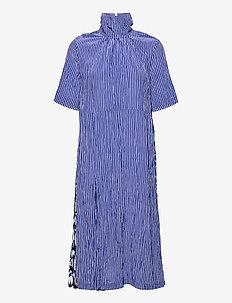 ANGIE - sommerkjoler - blue stripe leo