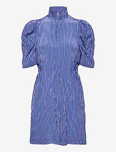AVANY - sommerkjoler - blue white stripe