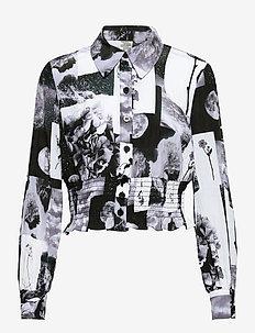 MAEKO - long-sleeved shirts - black floral collage