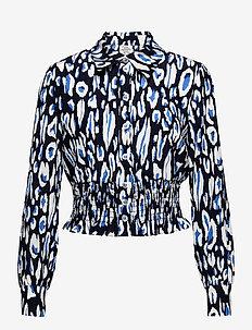 MAEKO - long-sleeved shirts - blue painted leo