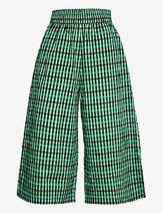 NOBI - casual trousers - gumdrop green check