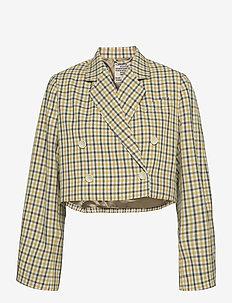 BIANKA - casual blazere - mustard check