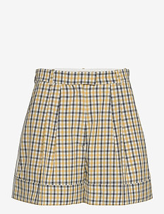 NOMADE - casual shorts - mustard check