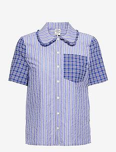 MIZZI - kortærmede skjorter - blue mix