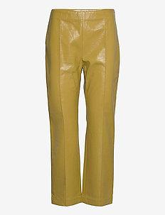 NARDEA - læderbukser - amber green