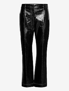 NARDEA - læderbukser - black