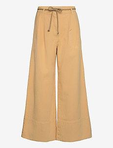 NOUR - bukser med brede ben - apricot cream