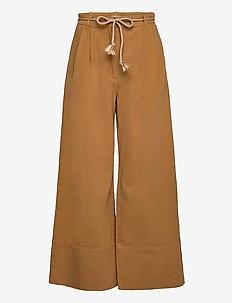 NOUR - bukser med brede ben - rubber