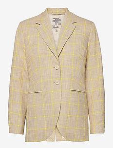 BRYONY - casual blazere - rio yellow check