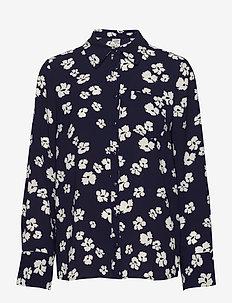 MONE - langærmede skjorter - patriot blue floral