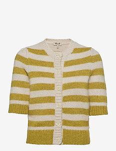 CACHAY - cardigans - amber green stripe