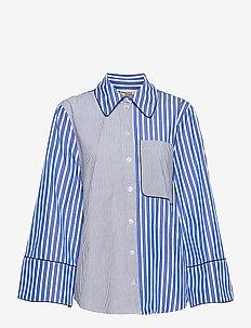 METTIE - långärmade skjortor - blue folk stripe