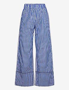 NALA - vida byxor - blue folk stripe