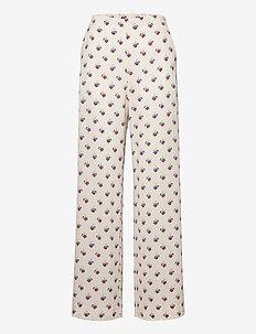 NASSIMA - bukser med brede ben - fannik flower