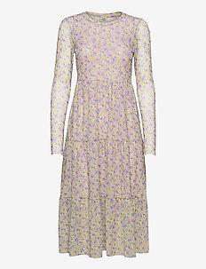 JOCELINA - midi dresses - grey ditzy floral