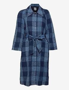 DEZIE - trench coats - worn indigo