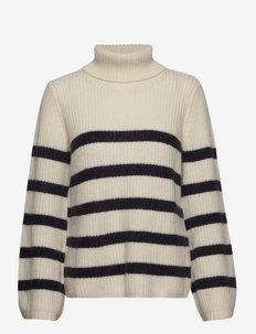 CHIKITA - turtlenecks - blue white stripe