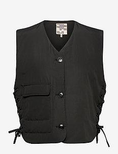 BRYAH - puffer-vestid - black