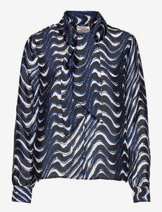 MEJA - langärmlige blusen - blue wave