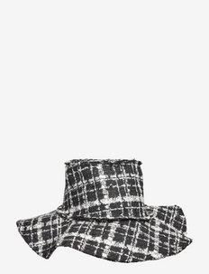 LOTTIE - hatte - black check boucle